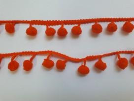 Bolletjesband pompom mini Oranje