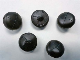 4f Leerknoop Zwart. 28 mm. LK428-44