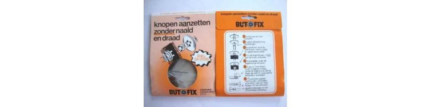 Butofix. Knopen aanzetten zonder naald en draad