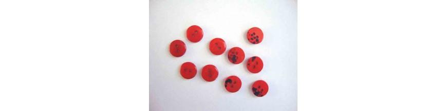Kunststof knopen 10 mm en 12 mm  serie 09