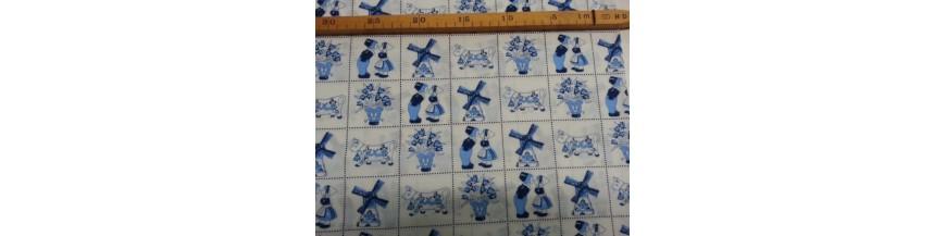 X Delftsblauwe stoffen