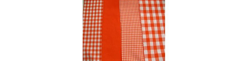 N Oranje boerenbont en stip
