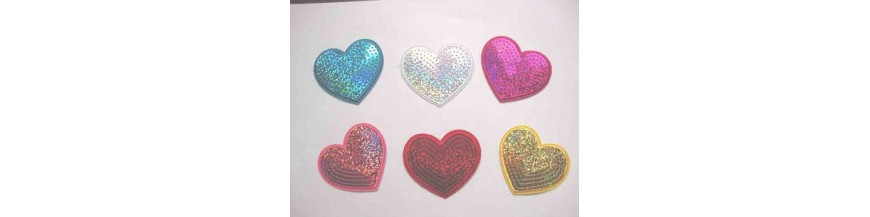 F: applicaties glitter hartjes