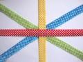 Biaisband elastisch met stip