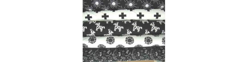 Tricot Zwart wit  Oeko Tex Standard 100