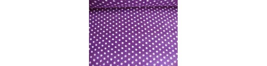 Fleece stof met stipjes