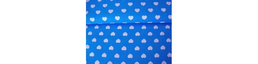 BB ruit Aqua stip ster en hart combi stoffen