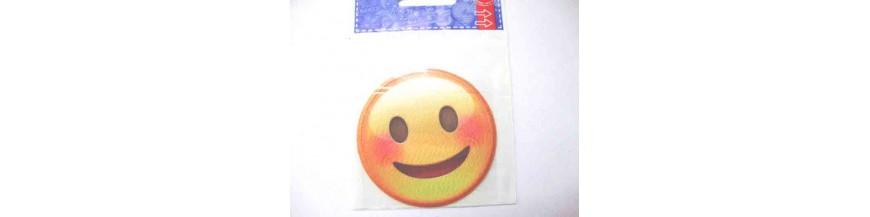 Emoticon applicatie en opstrijkbare smileys