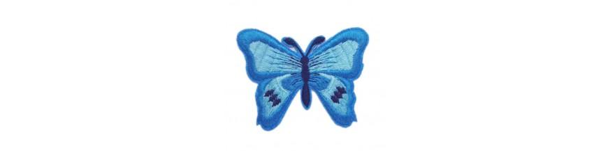 Vlinders applicatie 2 in 1 Opstrijkbaar en opplakbaar