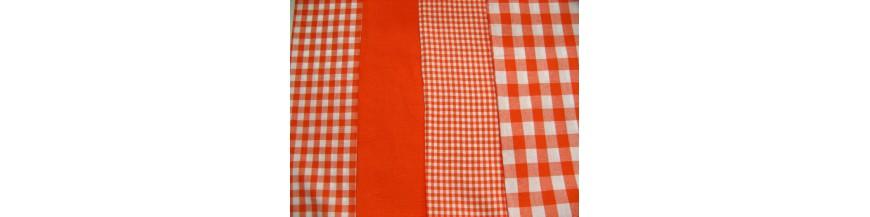 BB ruit Oranje stip ster en hart combi stoffen