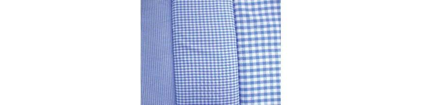 H Jeansblauw BBruit stip en combi