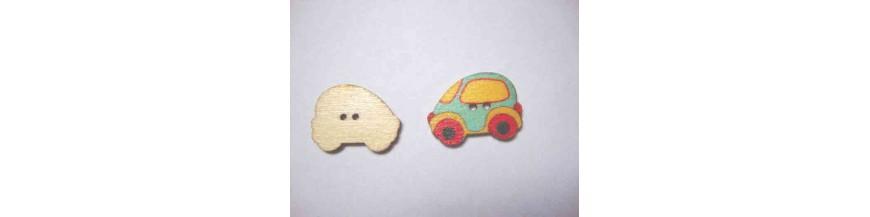 A: Houten knopen gekleurd Auto