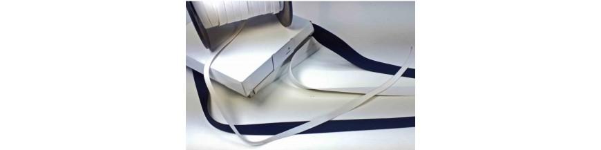 Stevig elastiek aan de meter  Wit en zwart
