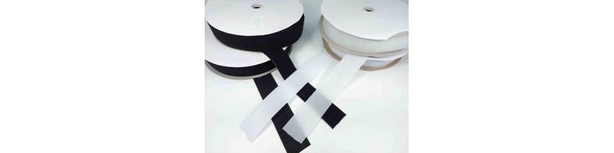 Klittenband 5 cm breed Wit en Zwart